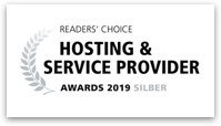 Readers' Choice: Silber Award 2019 in der Kategorie Hosting & Service Provider