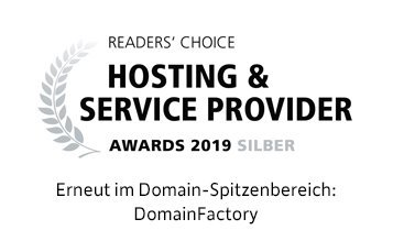 Readers' Choice: Silber Award 2019 Hosting & Service Provider