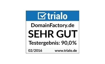 Testbericht für DomainFactory: Sehr gut