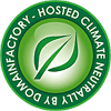 button Domainfactory - climate neutrally